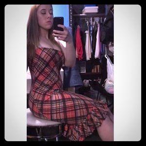 BCBG Red Black Maxi Dress Adjustable Straps